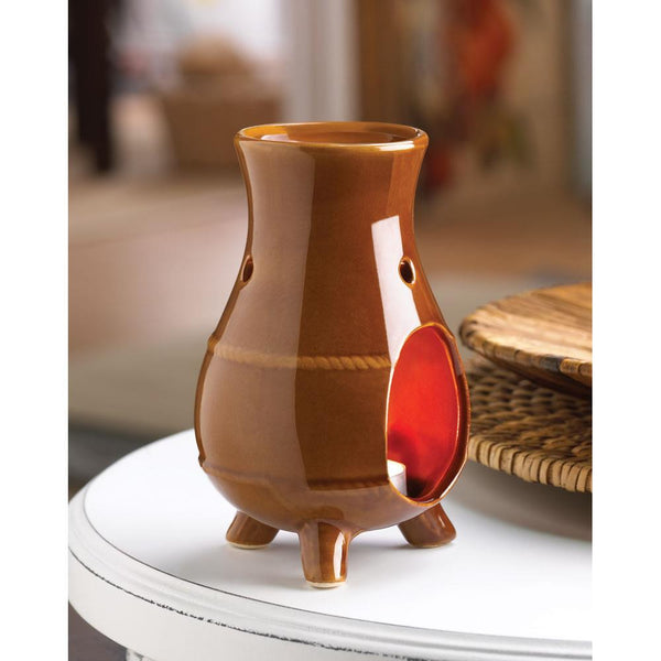 Terracotta finish Traditional Oil Warmer