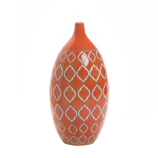 Mighty Orange Stoneware Vase