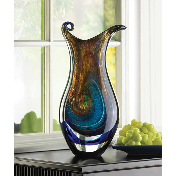 Mesmerizing Silhouette Art Glass Vase