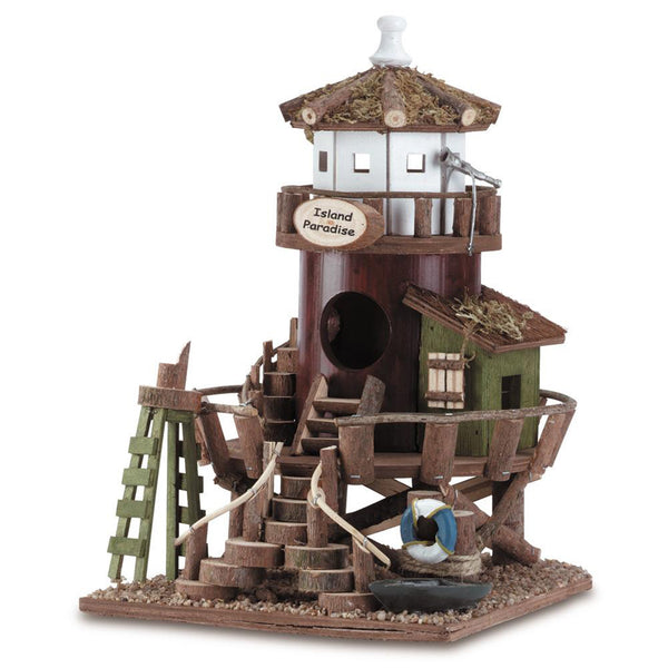 Coastal Paradise Wood Bird House