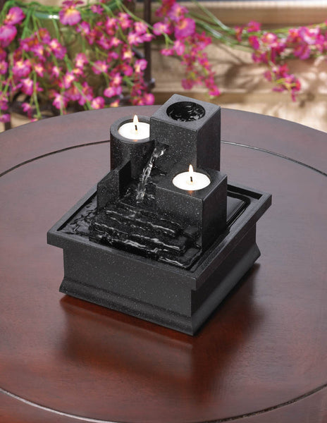 Beautiful Tealight Candles Tabletop Fountain