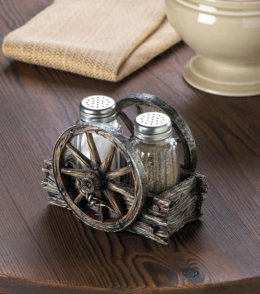 Wagon Wheel Salt And Pepper Holder