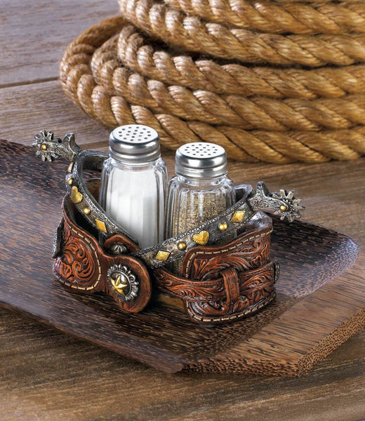 Cowboy Style Salt And Pepper Holder
