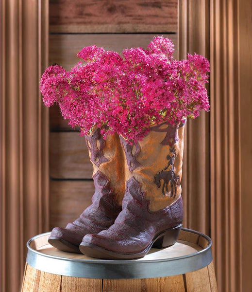 Wrinkled Shape Cowboy Boots Planter-50% OFF-Today!