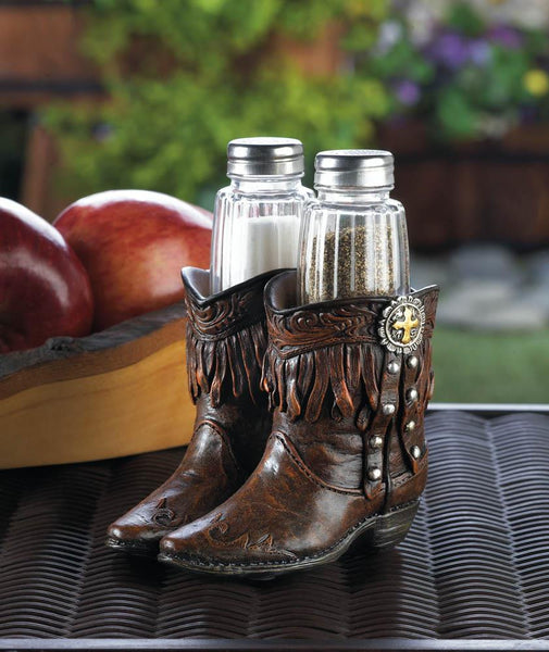 Cowboy Boots Salt And Pepper Holder