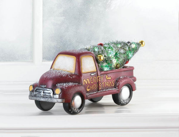 Holiday Delivery Christmas Red Truck Decor
