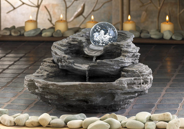 Three-Tiers Rock Table Fountain