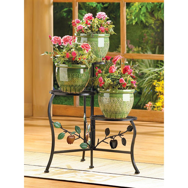 Country-Style Triple-Tier Plant Stand
