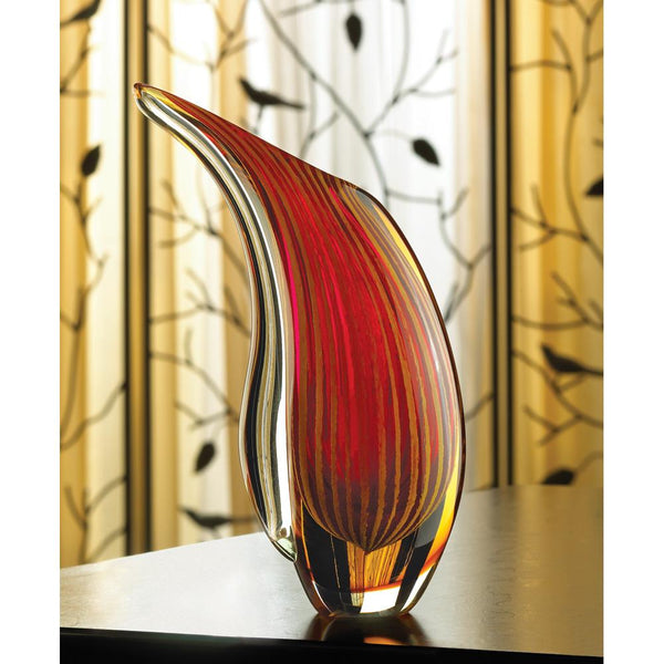 Sparkling Sunset Art Glass Vase