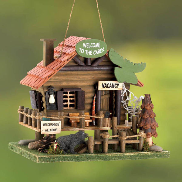 Wilderness Wood Cabin Bird House