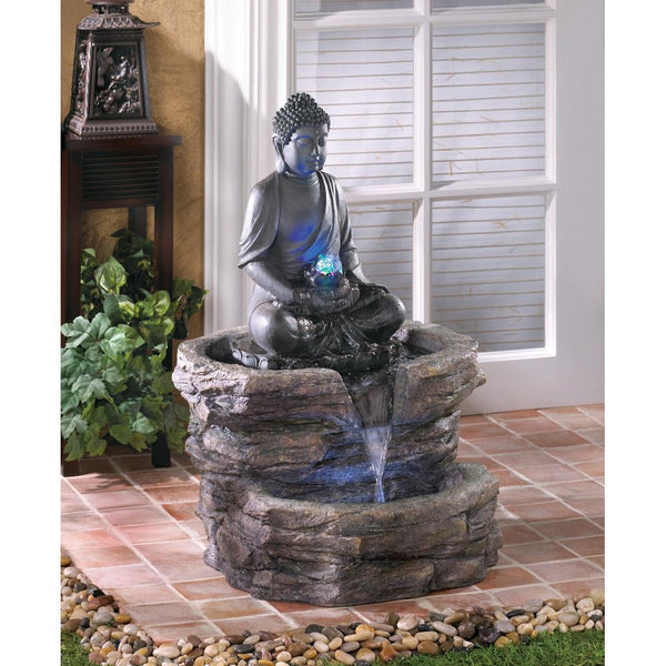 Ritual Buddha With LED Fountain
