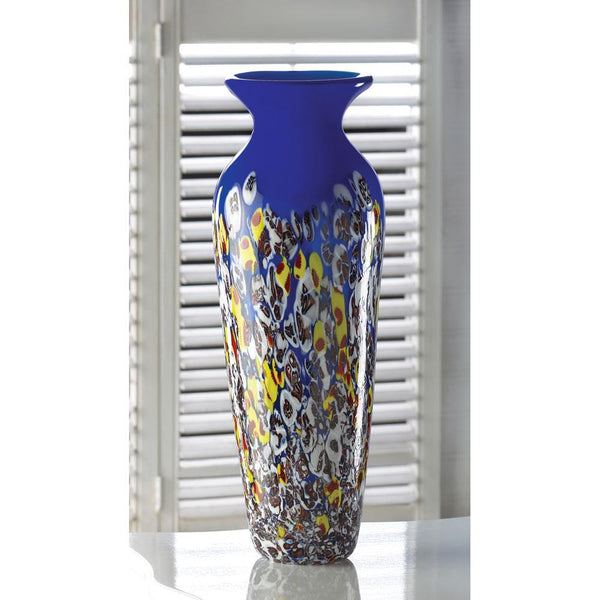 Royal Blue Art Glass Decorative Vase
