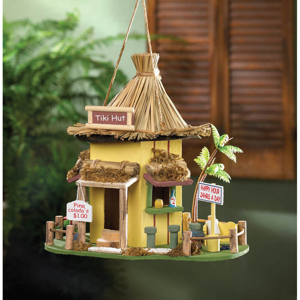 Tiki Tropical Shack Bird House