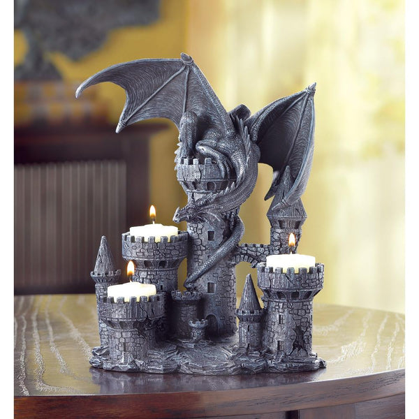 Black Dragon Candle Holder