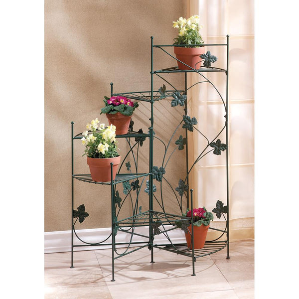 Six Shelved Staircase Plant Stand