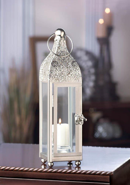 Highly Polished Silver Candle Lantern