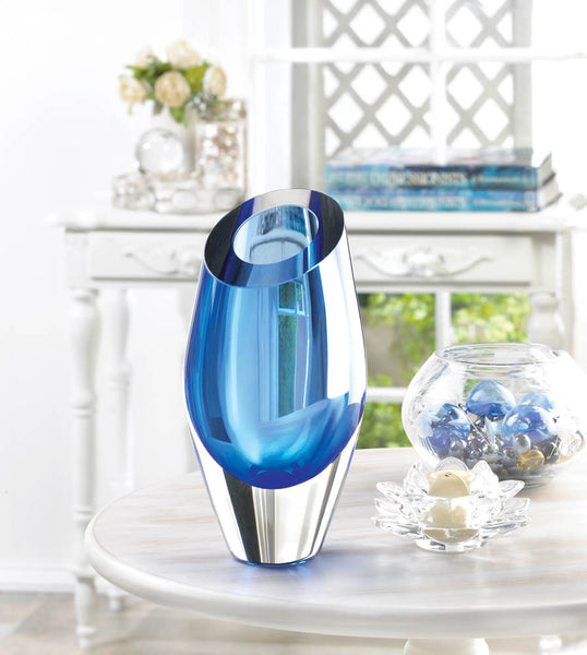 Beautiful Blue Glass Vase