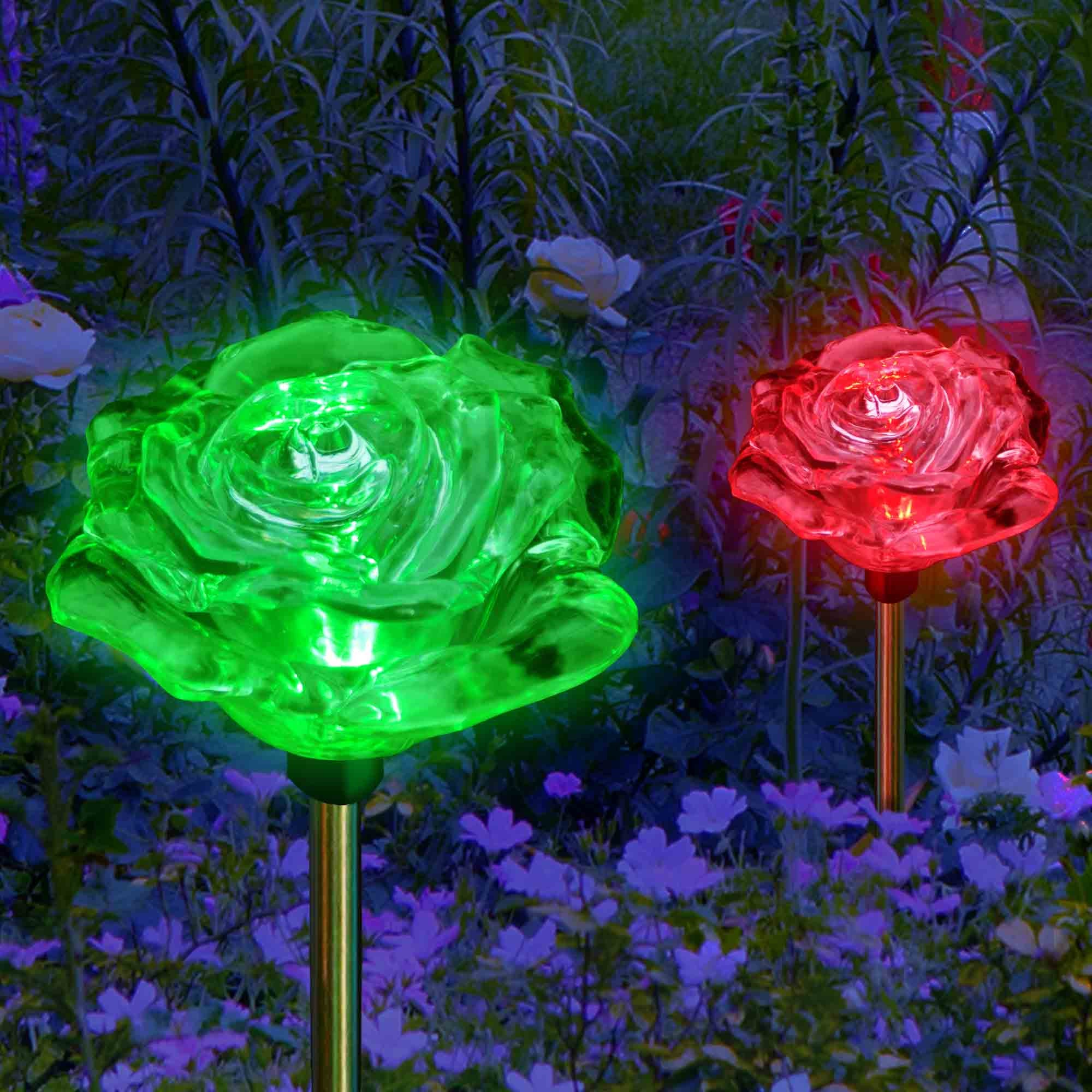 Solar Garden Lights Color Changing Lovely Roses My Dream Palace