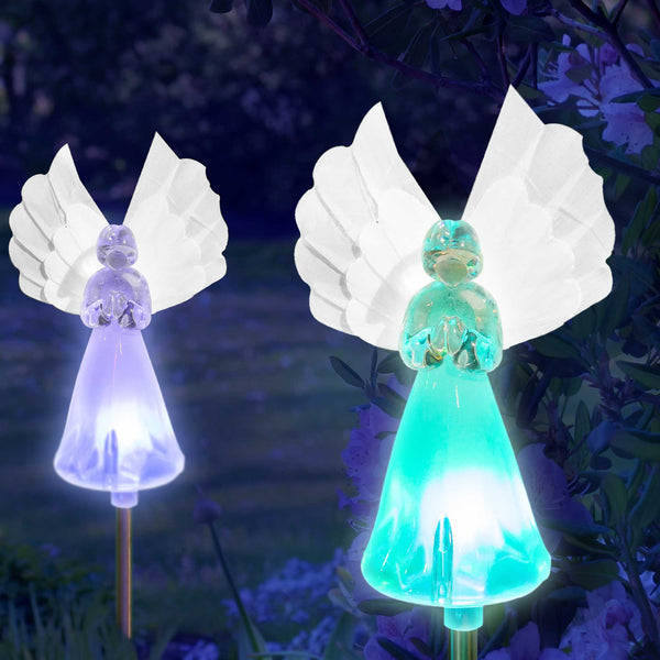 Solar Fairy Angel Lights Color Changing Garden Decor ...