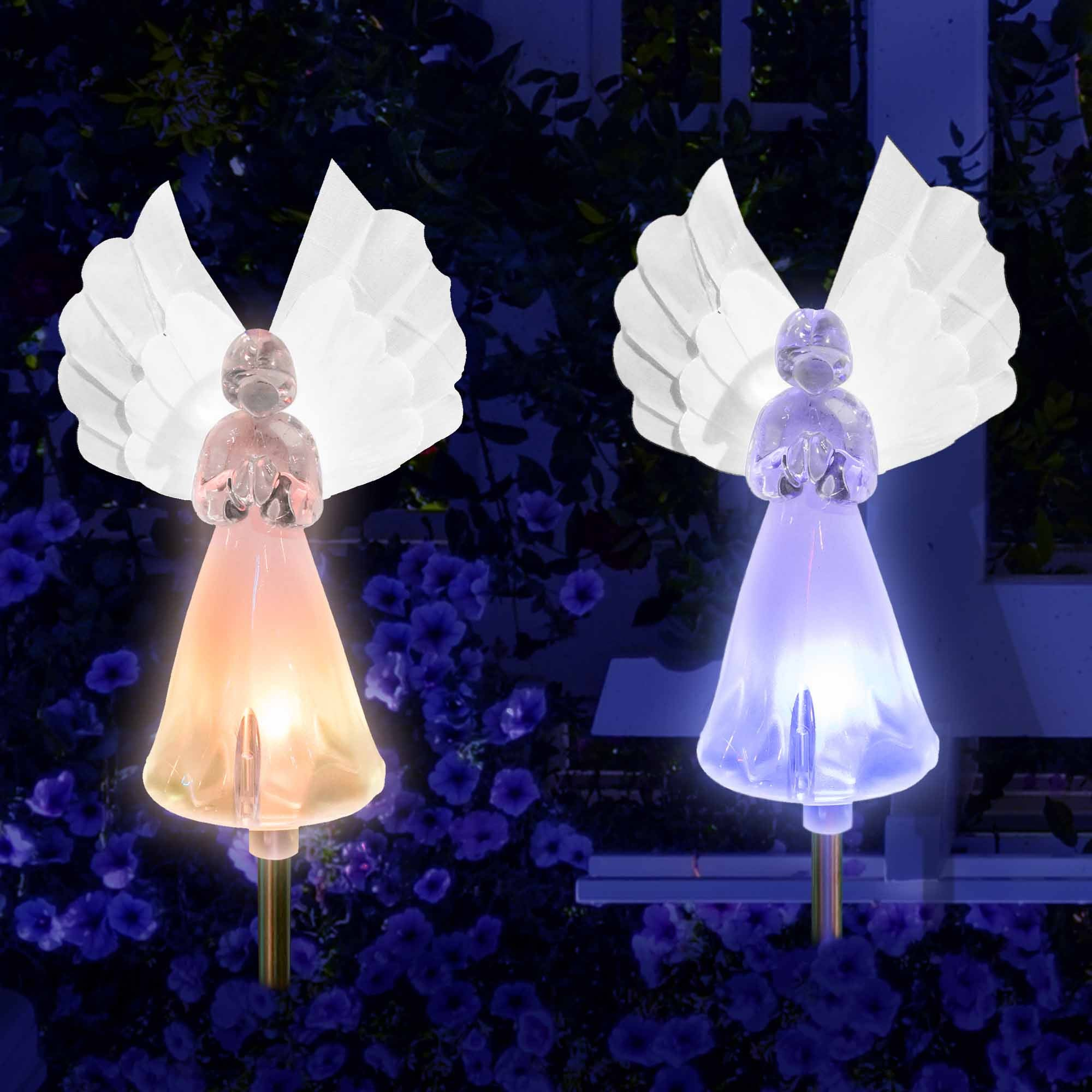 Solar Fairy Angel Lights Color Changing Garden Decor Outdoor Lawn