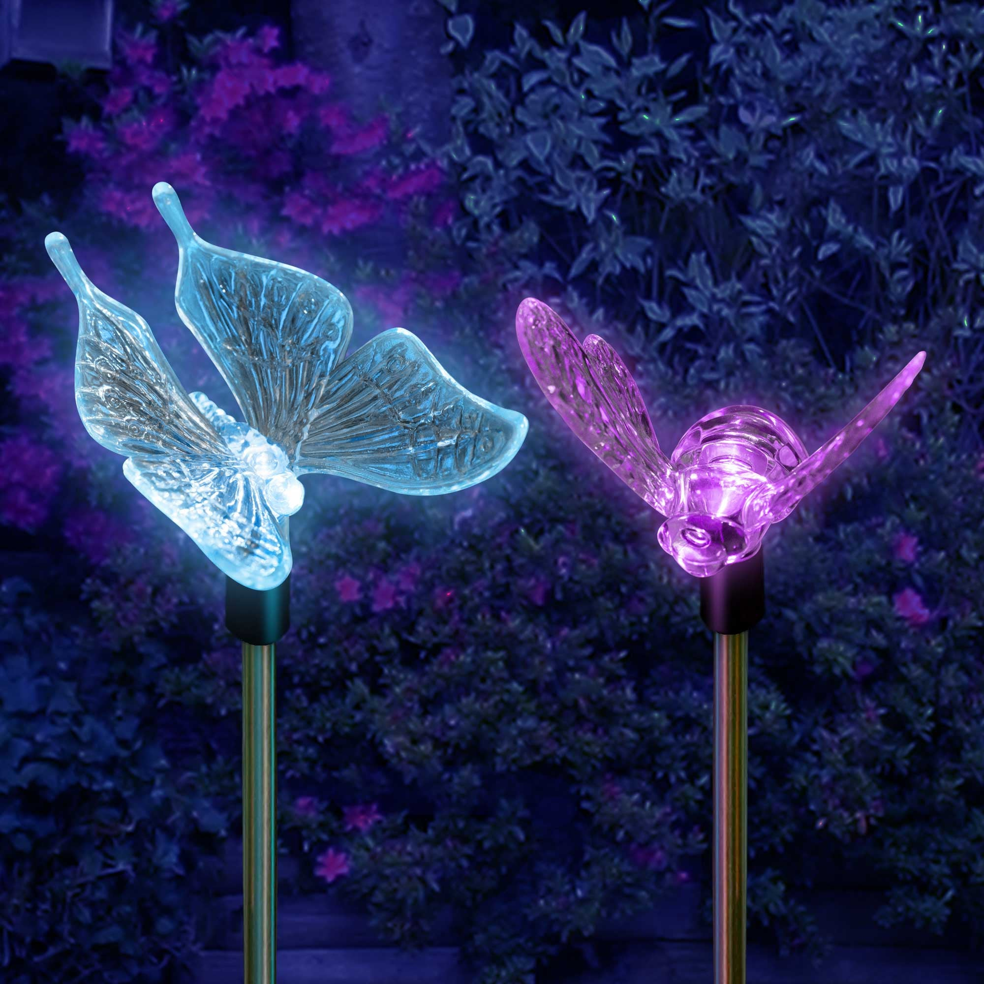 Butterfly Bumble Bee Solar Garden Decoration Lights SolarDuke