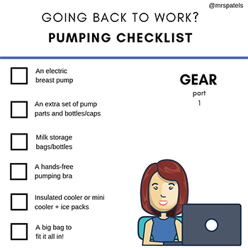 Mrs. Patel's Pumping Checklist - Gear (Part 1)