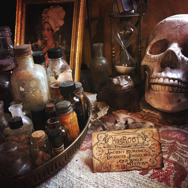 I've got new necklaces, shadow dolls and oils brewing in the cauldron. Stay tuned for the launch of these magickal new items.