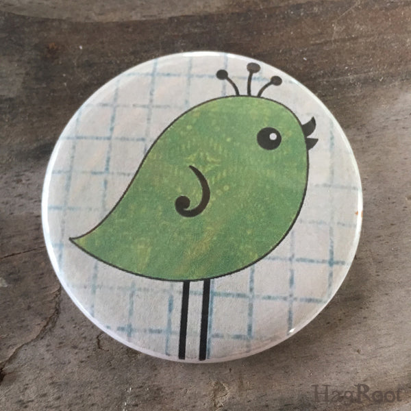 "Green Bird - 2.25"" Magnet"