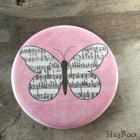"Musical Butterfly - 2.25"" Magnet"