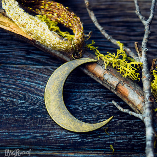 Gold Moon Goddess Necklace