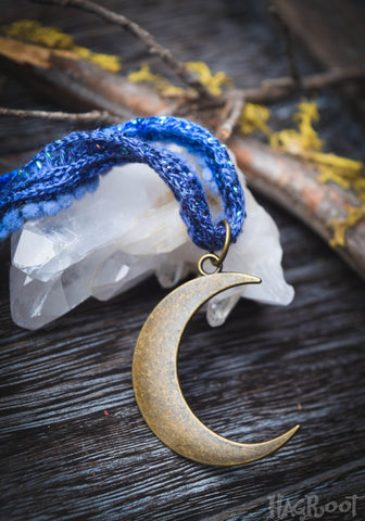 Blue Moon Goddess Necklace
