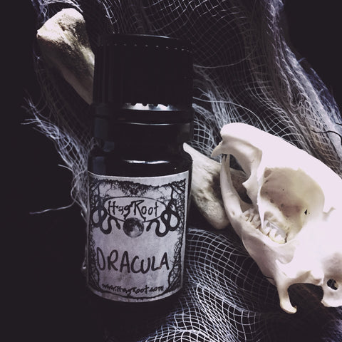 DRACULA-(Patchouli, Cedar, Blood Orange, White Sage, Dragon's Blood, Amber, Myrrh, Oakmoss, Vetiver, Sandalwood, Musk, Vanilla)