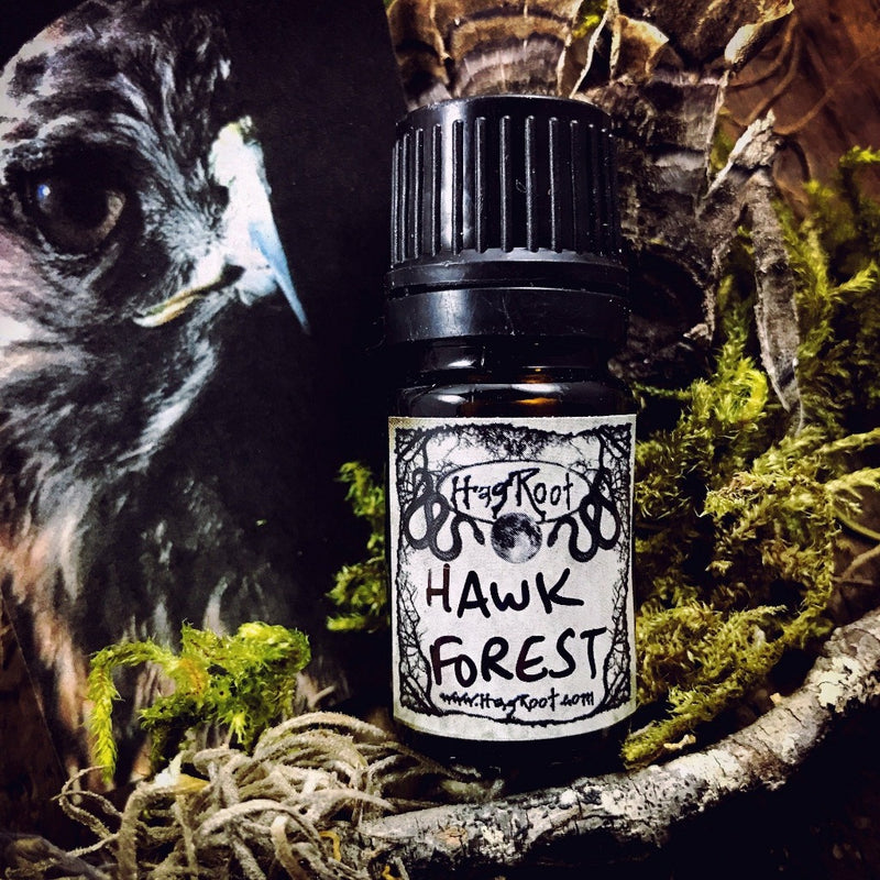 HAWK FOREST-(Patchouli, Tobacco, Amyris, Dragons Blood, Sandalwood, Cedar, Oakmoss, Amber, Musk)-Perfume, Cologne, Anointing, Ritual Oil