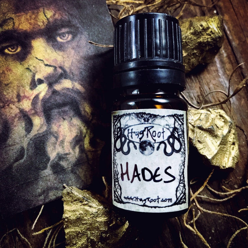 HADES-(Charred Wood, Tobacco, Amber, Leather, Myrrh)-Perfume, Cologne, Anointing, Ritual Oil