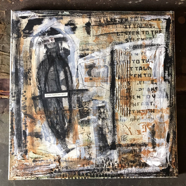 LOST SOUL - Original Mixed Media Canvas