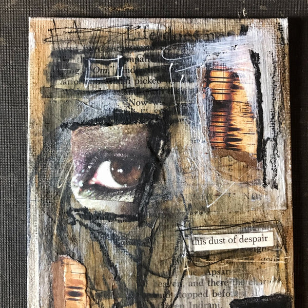 DUST OF DESPAIR - Original Mixed Media Canvas