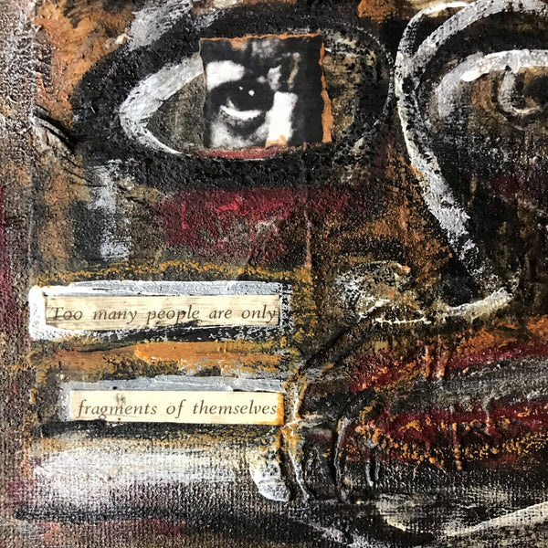 FRAGMENTS - Original Mixed Media Canvas