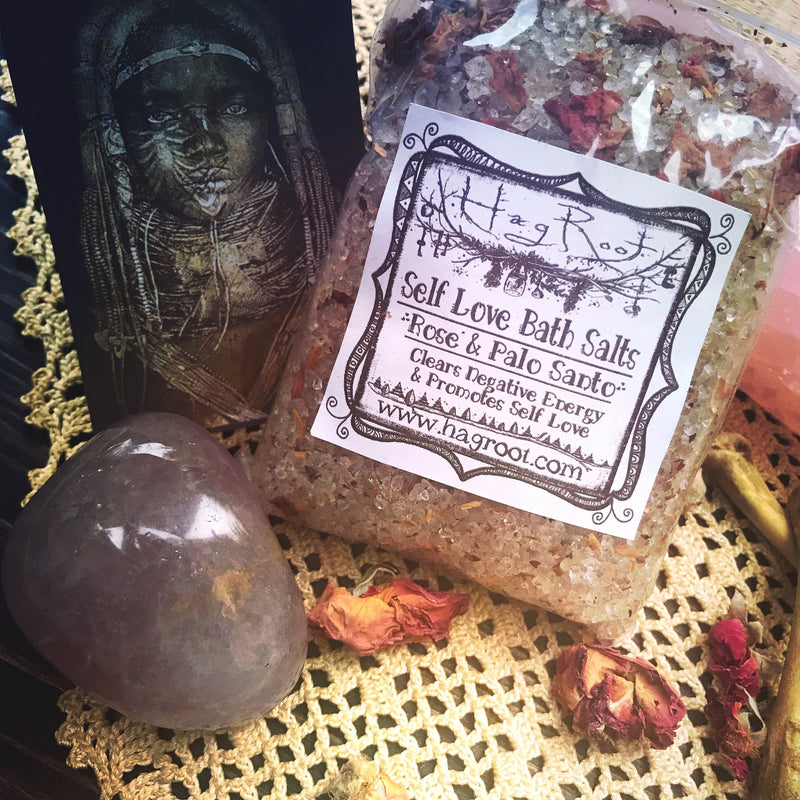 Self Love Bath Salts with Palo Santo + Rose Petals