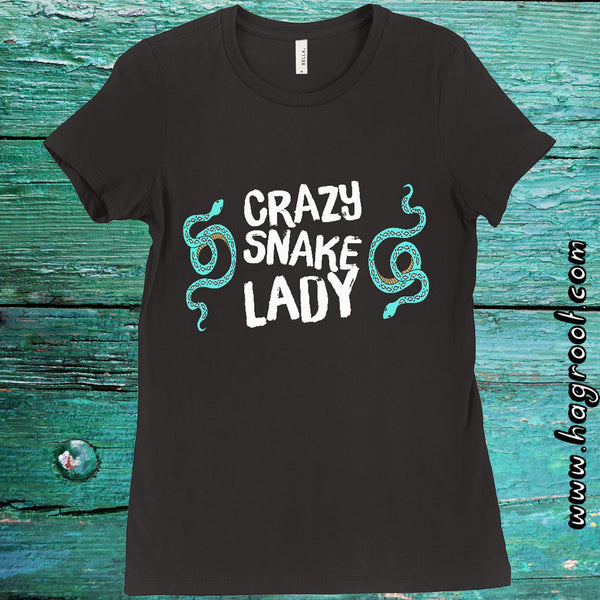 CRAZY SNAKE LADY - Women's T-Shirt