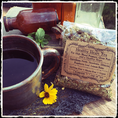 Healthy Heart Tea (Nettle, Hawthorn Leaves and Flowers, Hibiscus, Raspberry Leaf, Lemon Balm) Blood Pressure Tea