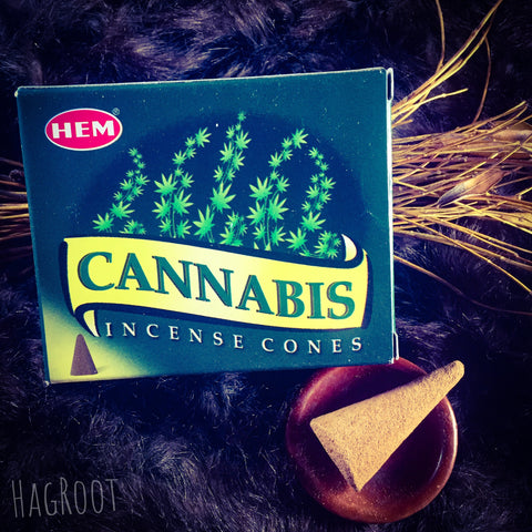 Cannabis Incense Cones - 10 Cones