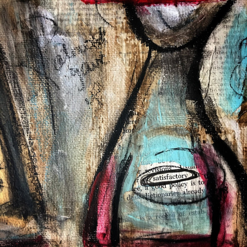 FOUND - Original Mixed Media Canvas