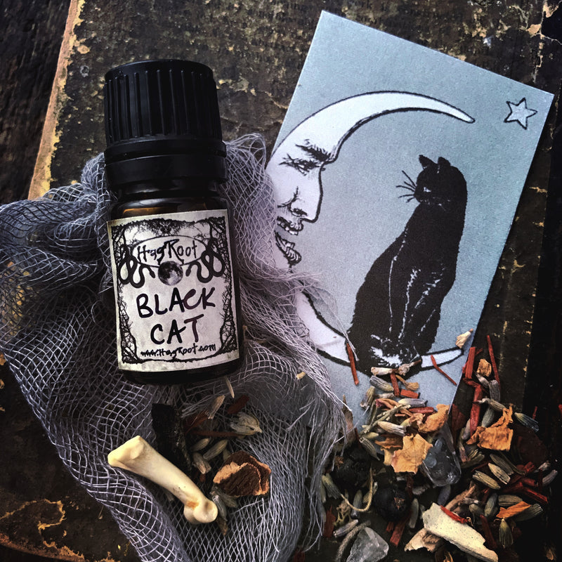 BLACK CAT-(Black Leather, Black Tea Leaves, Dark Patchouli, Smoked Woods)-FALL 2020 EDITION-Perfume, Cologne, Anointing, Ritual Oil