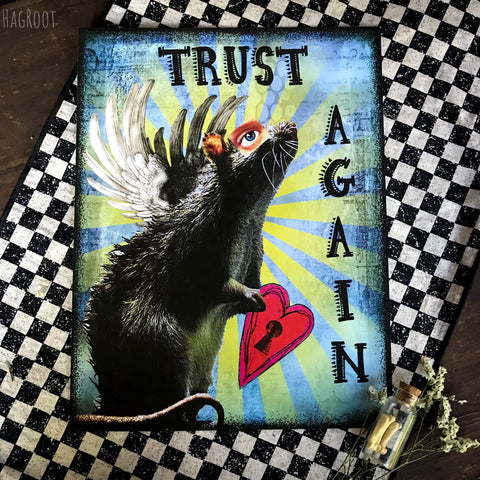 TRUST AGAIN Collage Art Print by HagRoot