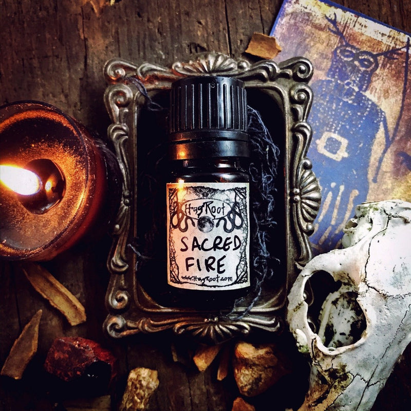 SACRED FIRE-(Smoked Wood, Rich Spices, Dark Florals)-Perfume, Cologne, Anointing, Ritual Oil