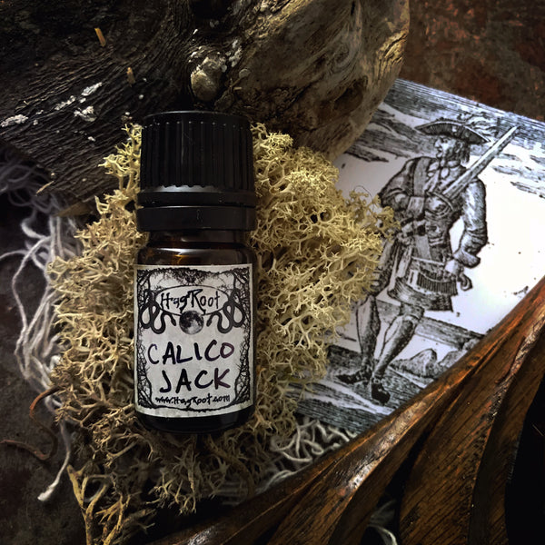 CALICO JACK-(Rum, Leather, Salty Sea Air, Oakmoss, Cypress, Bay Leaves)-Perfume, Cologne, Anointing, Ritual Oil