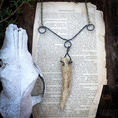 Antler Necklace for Journeying Deep into the Magical Forest