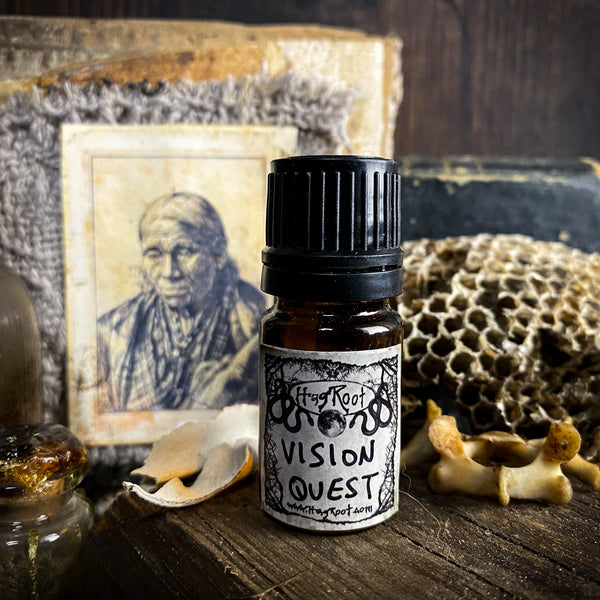 VISION QUEST-(Sweetgrass, Benzoin, Wildflowers, Opoponax, Myrrh, Sandalwood, Cedar)-Perfume, Cologne, Anointing, Ritual Oil