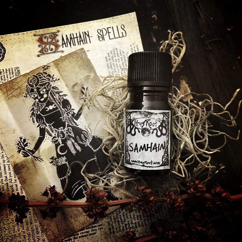 SAMHAIN-(Pumpkin, Smoked Woods, Spun Sugar, Dark Cocoa, Fallen Leaves, Leather Bound Books)-FALL 2020 EDITION-Perfume, Cologne, Anointing, Ritual Oil