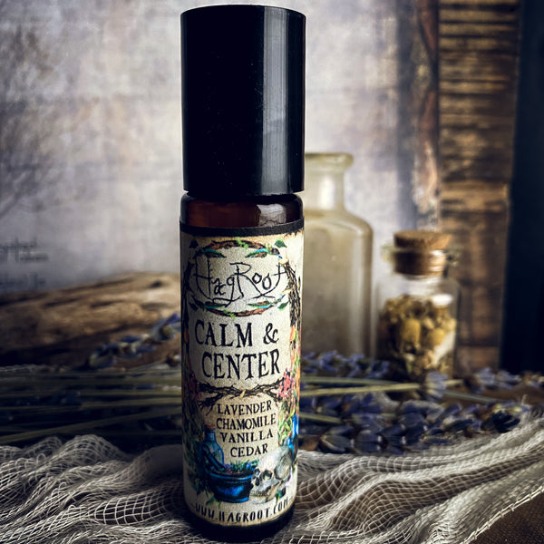 CALM & CENTER-Natural Herbal Roll On Oil for Stress, Anxiety and Tension